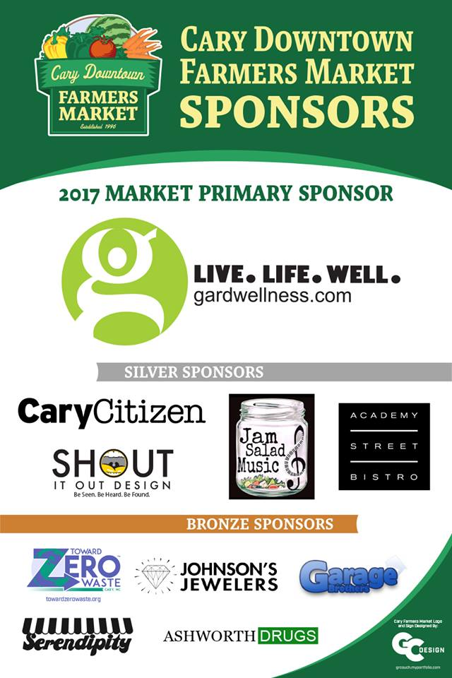 Cary Downtown Farmers Market Sponsors