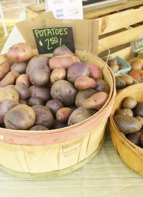 Fresh potatoes Cary Downtown Farmers Market