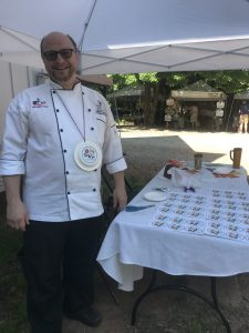 Chef Mitch at his market table