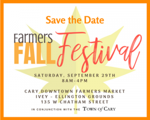 Fall Festival logo for Cary Downtown Farmers Market